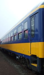 Former Inter-Regio coach Bimz 264 in operation at NS Reizigers as ICL-coach. Top speed 200km/h.